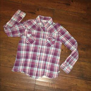 Cruel Girl rhinestone snap Western Shirt M/8